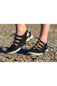 Shoes-Sisters - Dansko Riona Suede Black