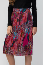 Load image into Gallery viewer, Skirts - Pleated Midi Skirt Multicolored