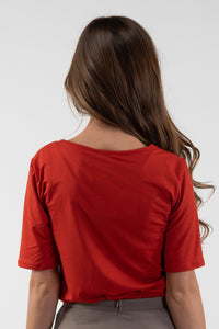 Tops - Lillie Top Brick Red