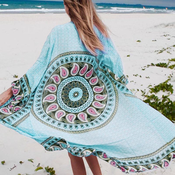 Beach Cover up Long Tunic Robe