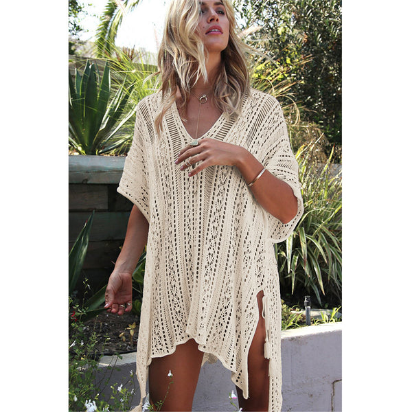 Beach Cover Up Bikini Crochet Knitted