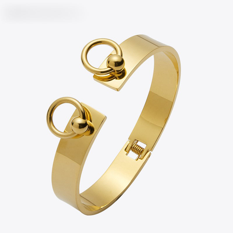 Enfashion Circle Ring Bracelet manchette Noeud Armband Rose Gold color Bangles Bracelets For Women Cuff Bracelets pulseiras