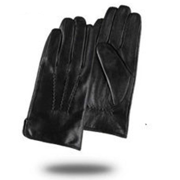 Gours Winter Genuine Leather Gloves Men New Brand Black Fashion Warm Driving Gloves Goatskin Mittens Guantes Luvas GSM015