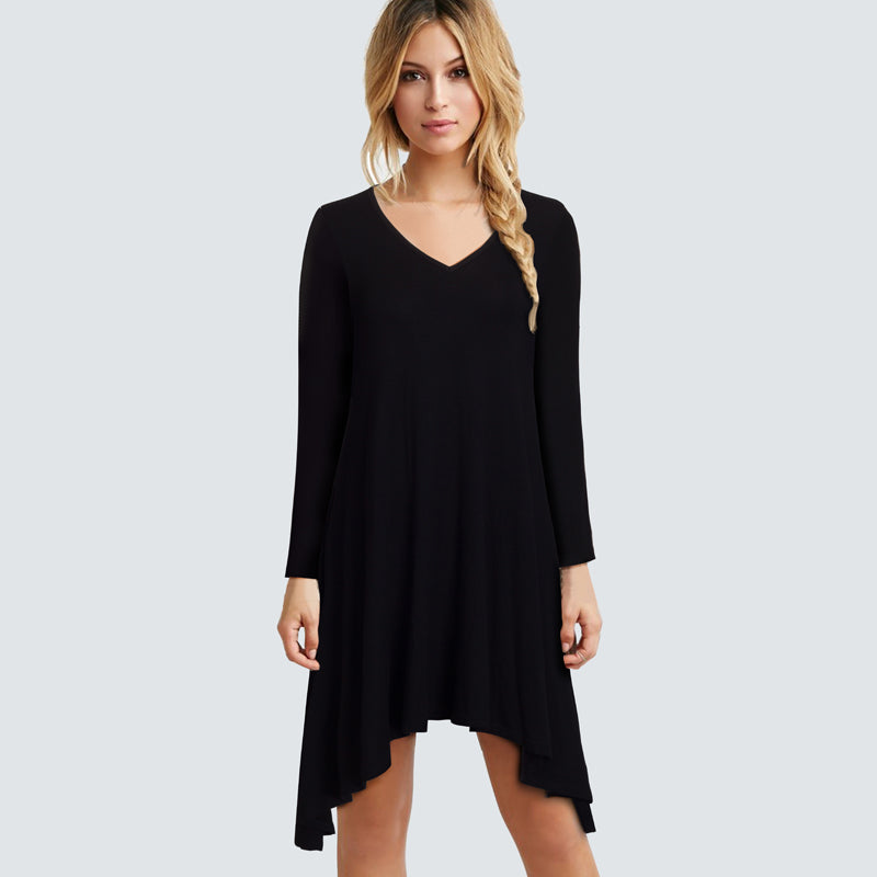 Best Day Ever Long Sleeve Dress - Black