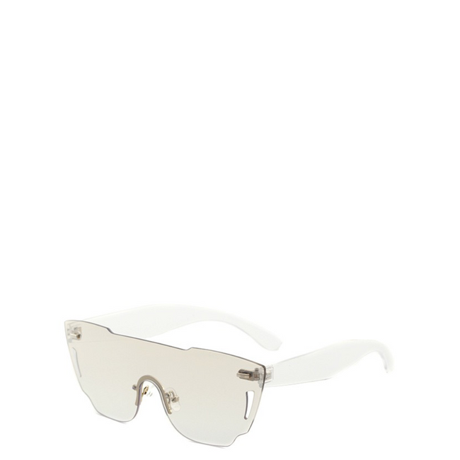 Rimless Clear Futuristic Sunglasses