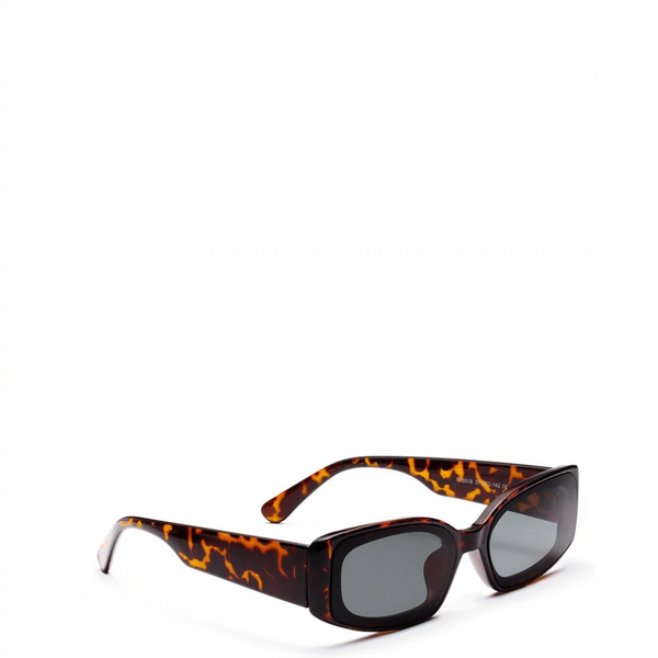 Banger | Retro Rectangle Oculus in Brown x Leopard