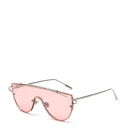 Nova | Futuristic Shield Aviator Sunglasses in Pink
