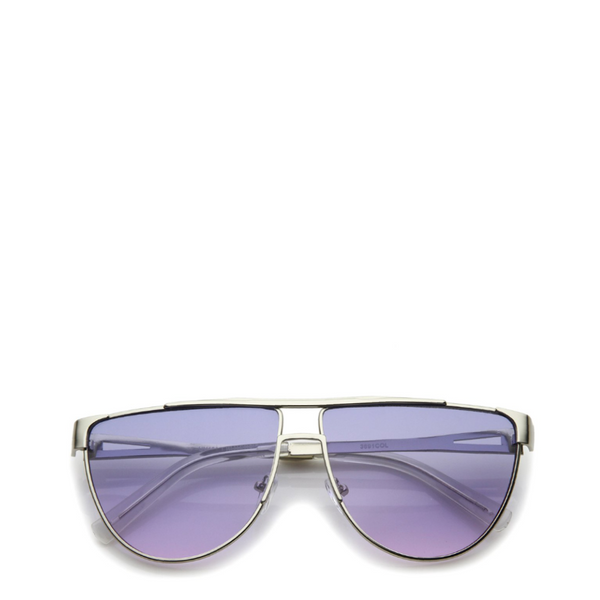 Pac | Retro Style Metal Frame Purple Aviator Sunglasses