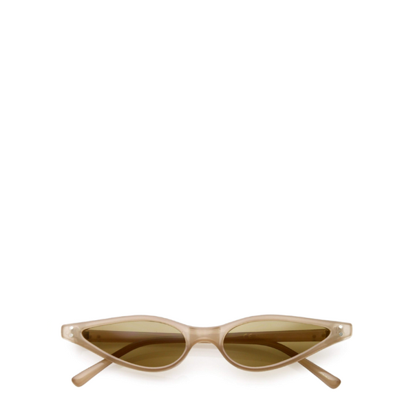 Quinn | Vintage Skinny Cat-Eye Sunglasses in Nude