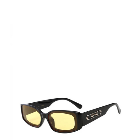 Skywalker | Semi-Rimless Square Sunglasses in Silver