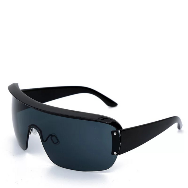 Facade | One-Piece Shield Sunglasses in Black