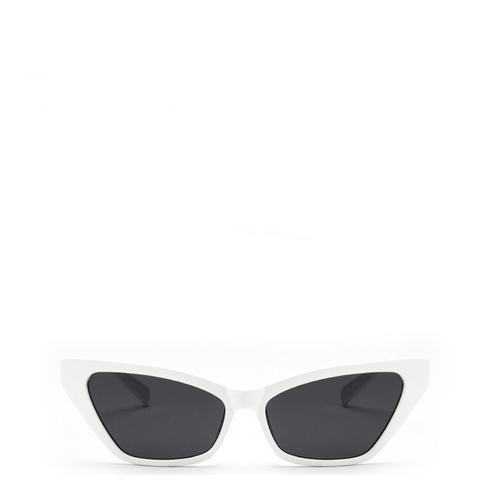 Sinner | Classic Angular Cat-Eye Sunglasses in White