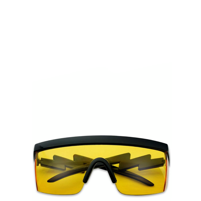 Hyper | Flat-Top Rectangle Sport Sunglasses in Yellow