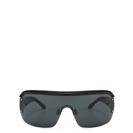 Maddox | Retro Metal-Framed Steampunk Sunglasses - All Black