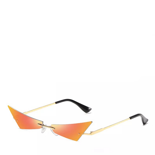 Razr | Rimless Mirror Sunglasses in Red