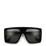 OCS | Luxe Oversized Square Sunglasses in Black