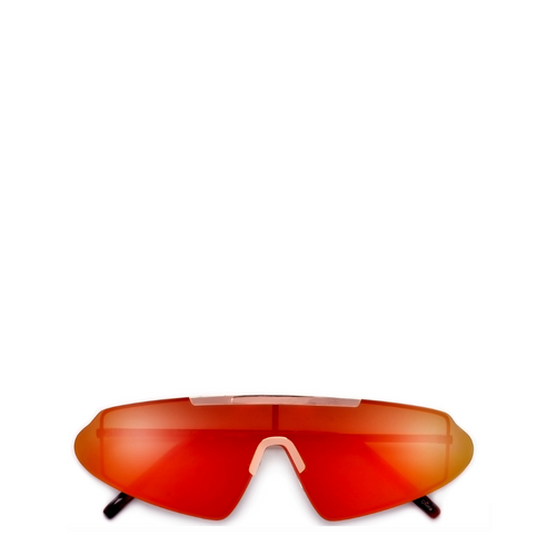 Vector | Rimless Shield Modern Sunglasses in Gold x Red