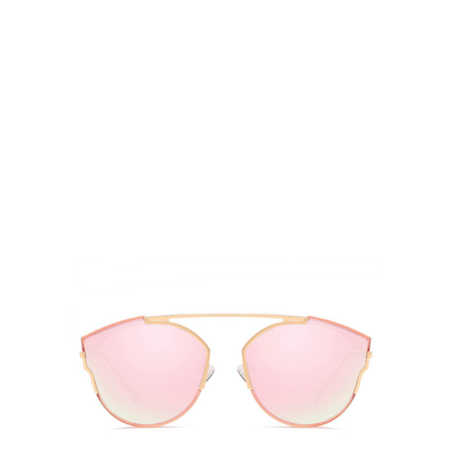 Ari | Metallic Cat-Eye Sunglasses in Pink
