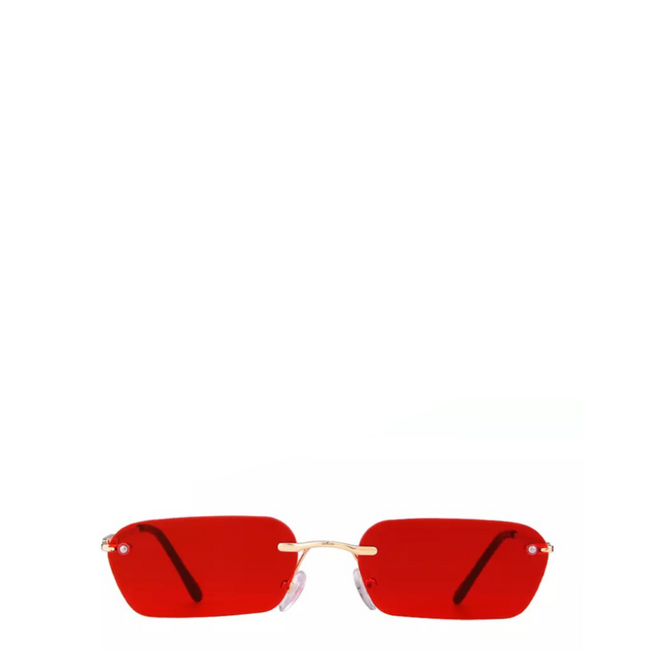 Wang | Rectangle Rimless Sunglasses (3 colors)