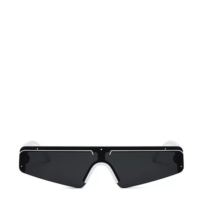 Euro | Sleek Futuristic Sunglasses in White x Black