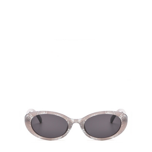 Poppy | Retro Mod Clout Sunglasses in Grey x Silver