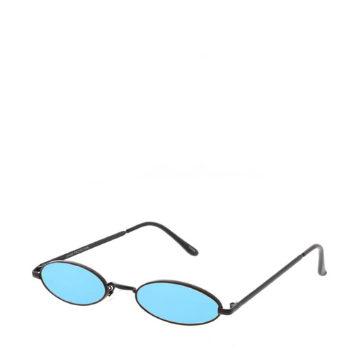 Davinci | Classic Small Oval Retro Sunglasses in Blue