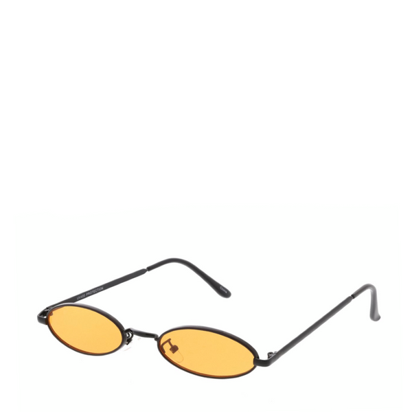 Davinci | Classic Small Oval Retro Sunglasses in Orange
