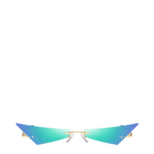Razr | Rimless Mirror Sunglasses in Green