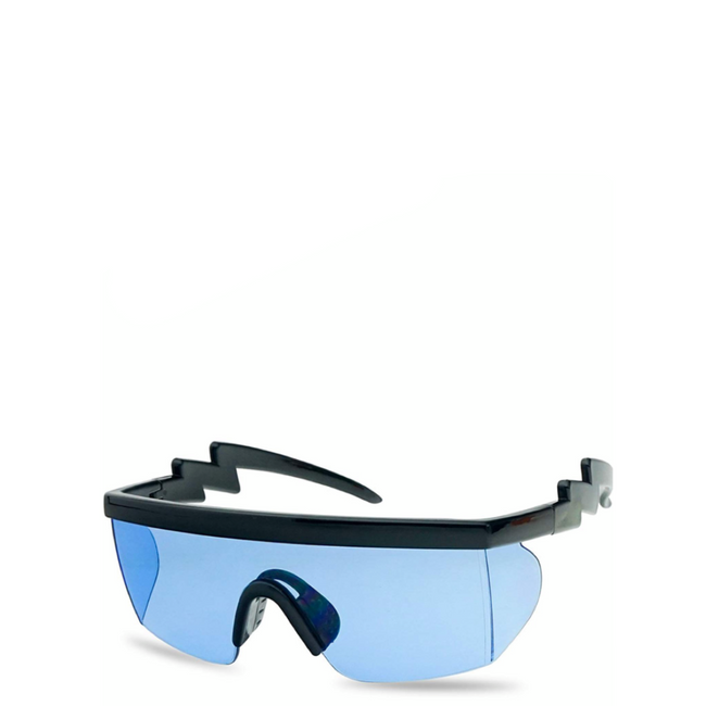 Hyper | Flat-Top Rectangle Sport Sunglasses in Blue