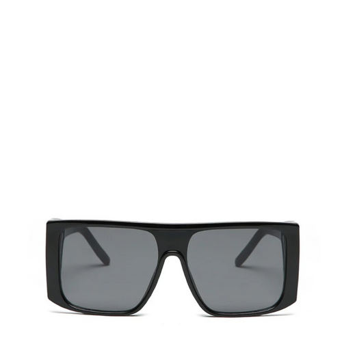 Fader |  Retro Square Shield Sunglasses - All Black