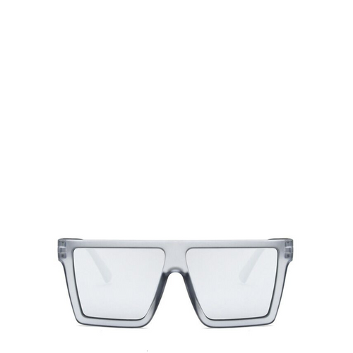 Vintage Oversized Square Sunglasses | Grey x Silver