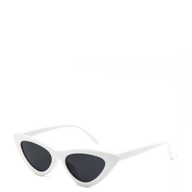 Gigi | Retro Cat-Eye Sunglass in White x Black