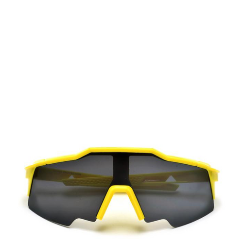 Amp | Retro Sports Sunglasses in Black x Yellow