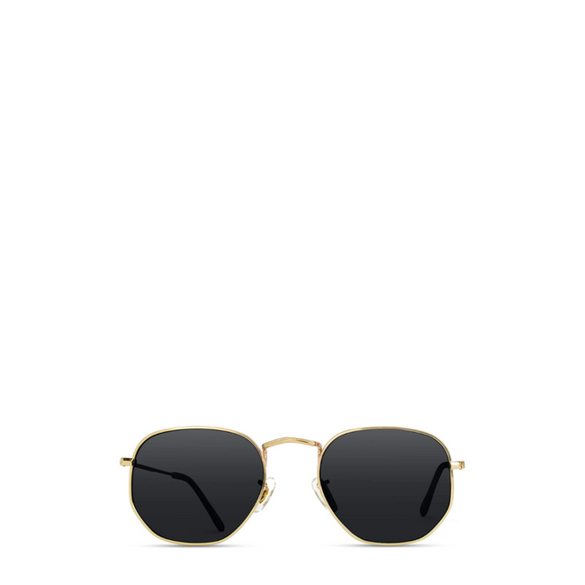 Geometric Round Gold Frame Retro Sunglasses