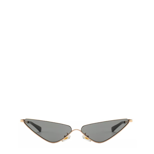 Mickey | Slender Edgy Cat-Eye Sunglasses in Gold x Black