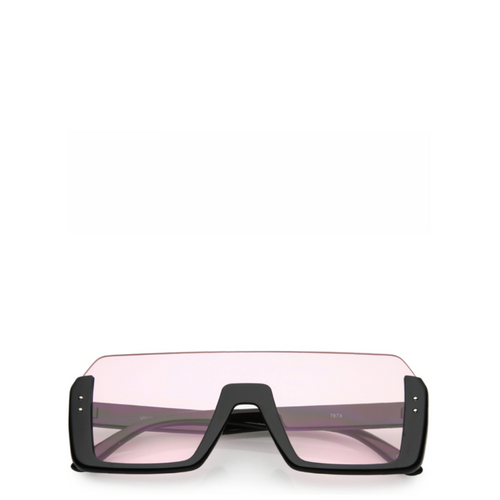Jupiter | Rectangle Semi-Rimless Sunglasses in Pink