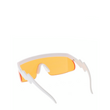 Hyper | Flat-Top Rectangle Sport Sunglasses in Orange