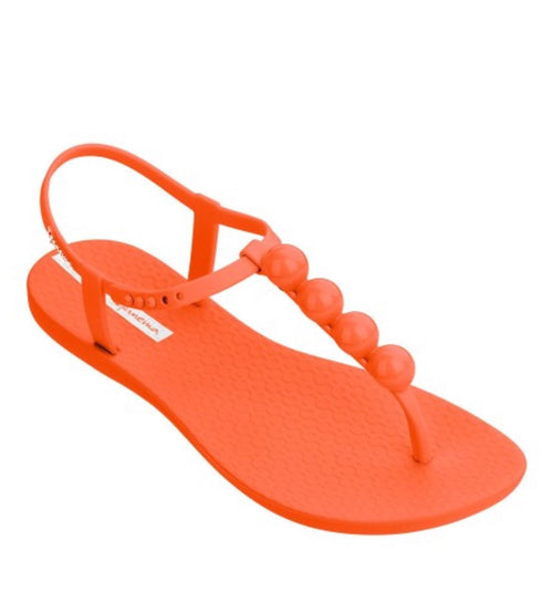 Orange Neon Pearl Sandal by Ipanema