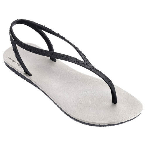 Jo Beige & Black Sandal by Ipanema