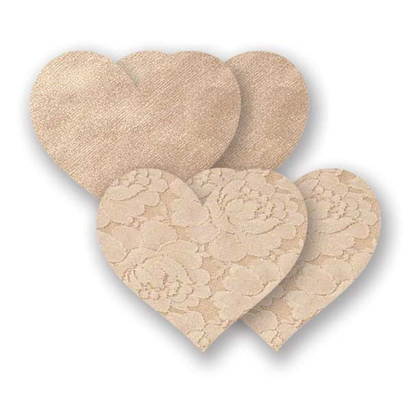 Nippies® Basics – Créme Heart (two pair)