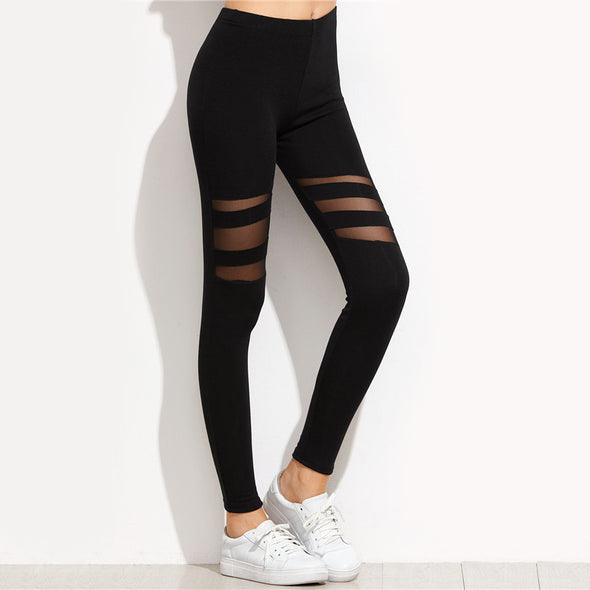 Black Mesh Leggings