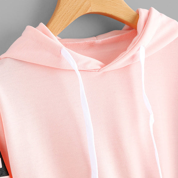 Pink Crop Top Long Sleeve