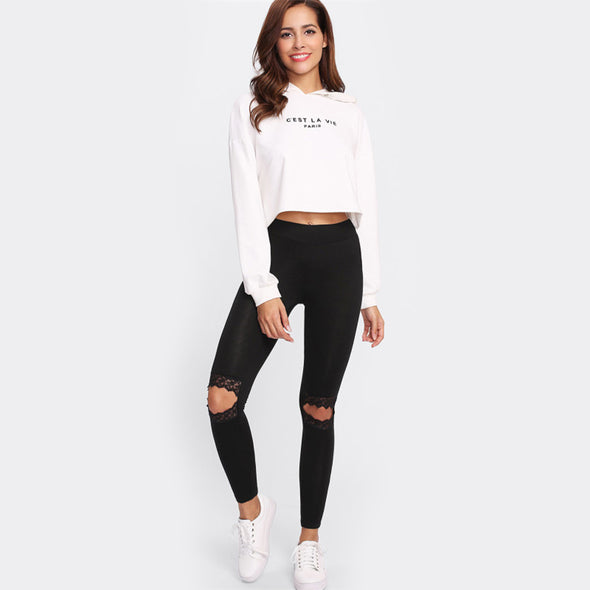 Ultra Knee Cut Mid-Waist Leggings