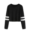 Varsity Striped Long Sleeve Crop Top