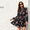 Elegant Floral Long Sleeve Dress