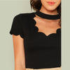 Black Elegant Trim Cut Shirt