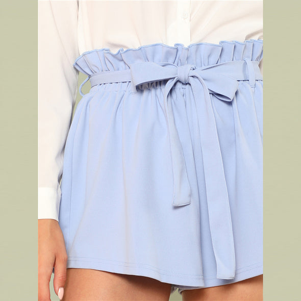 Vacation Boho Ruffle Trim Shorts