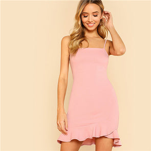 Pink Pastel Ruffle Dress