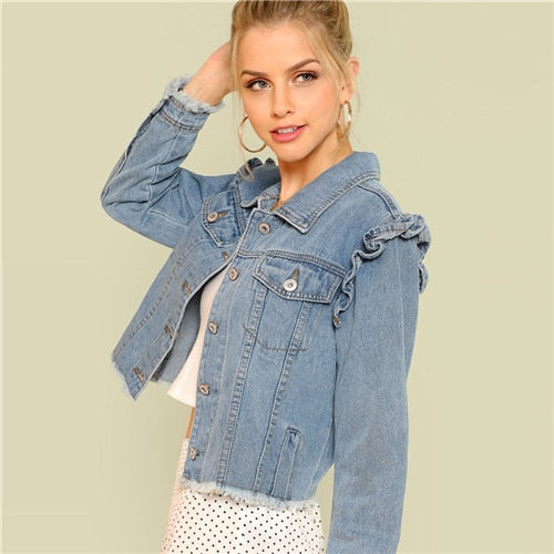 Long Sleeve Casual Denim Jacket