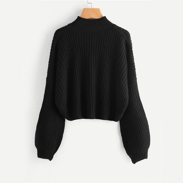 Black Turtleneck Sweater Pullover